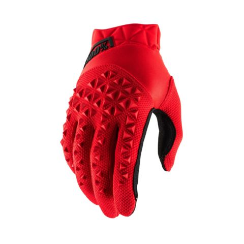 AIRMATIC 100% Glove Red/Black Youth